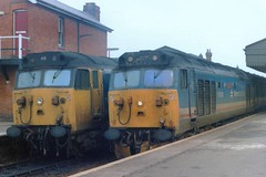 Side by Side in Sarum. (24082CH) Tags: resolution salisbury ajax class50 50018 50046