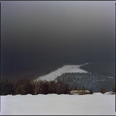 Crni Vrh (OverdeaR [offline 'til July]) Tags: trees winter house mountain snow ski 120 6x6 film car pine night mediumformat square nc long exposure kodak peak cable s scan negative bronica 400 scanned medium format expired portra ropeway dodgy sqa muted sneg f35 c41 crni 150mm vrh iara planina 15035 zenzanon divibare maljen staza zenzanons