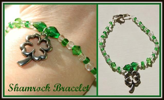 Beaded Shamrock Bracelet
