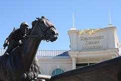 The Frozen Race (RJohn123) Tags: horse statue museum racetrack race downs track kentucky entrance jockey churchill louisville derby barbaros