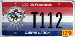 Lac Du Flambeau Ojibwe Nation Truck Veteran Flat License Plate (Suko's License Plates) Tags: plaque truck native indian nation band plate tribal licenseplate license tribe veteran placa patente targa matricula kennzeichen lacduflambeau ojibwe targhe numbertag nummerschild nativeamericanindians plaqueimmatriculation triballicenseplates indiantribeslicenseplates lacduflambeauojibwe