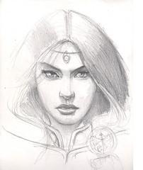 Helena 2 step (rafanav) Tags: woman art pencil sketch drawing navarro process rafa