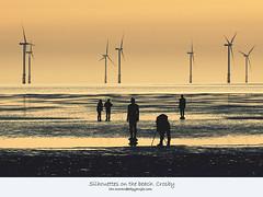 Silhouettes on the beach. Crosby (Ianmoran1970) Tags: sea beach liverpool sand waves shadows wind silhouettes windfarm crosby turbines windturbines sillouettes ianmoran burbobank ianmoran1970