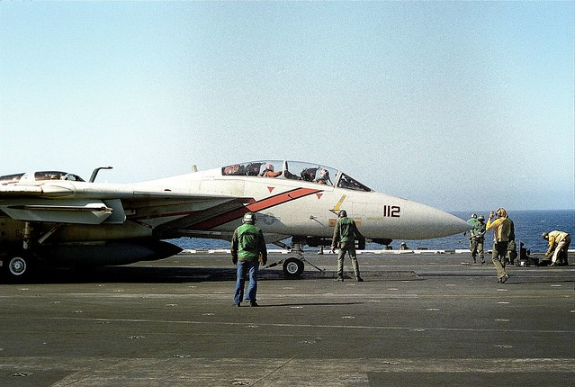 Grumman F-14 Ready For Launch aboard the USS ENTERPRISE -  1984