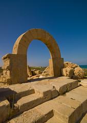 Roman Theater Arch, Leptis Magna, Libya (Eric Lafforgue) Tags: libya libia libye libyen lbia libi libiya  ribia liviya libija       lbija  lby  libja lbya liiba livi