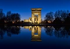 Templo de Debod - 2 (Fil.ippo) Tags: madrid longexposure travel sunset reflection architecture nikon tramonto egypt riflessi filippo templo debod tempio filippobianchi