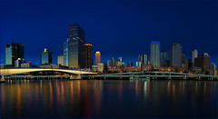 Brisbane City Scape (Allen Images) Tags: city panorama night river brisbane canon50mm18 niftyfifty canon450d