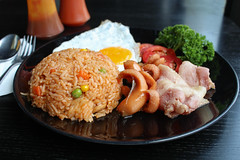 American style breakfast set, fried rice-2.JPG (By Jan_) Tags: food cooking breakfast dinner menu asian lunch thailand cuisine restaurant hotel healthy asia dish rice spice egg grain cook sausage tasty plate fork vegetable fresh course gourmet delicious eat american thai meal spicy typical oriental fried calorie mixedrace