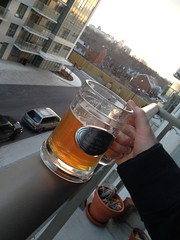 82/365 - balcony drinks (bsteel1984) Tags: beer mug stein balconyview
