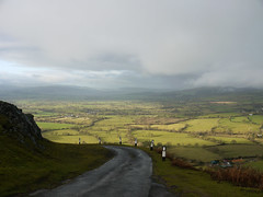 The Road On The Edge (Louise and Colin) Tags: road uk trees winter england green english beautiful wales shropshire britain hill january eu fields british lovely patchwork aonb hedgerows thelongmynd shropshirehillsareaofoutstandingnaturalbeauty louiseenglish winter2014