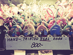 Easter eggs - Budapest (Gabriel M.A.) Tags: blur bunnies easter ribbons hungary fuji bokeh painted budapest rangefinder numbers handpainted eggs lamb 40mm 800 f25 x20 centralmarket souveniers 4x3 forints