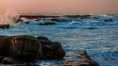 DSC06125 (samwilliamson98) Tags: sunset sea beach rocks waves foam nsw crashing rockpools iluka