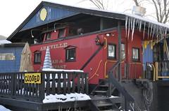 Arkville, New York (3 of 3) (Bob McGilvray Jr.) Tags: wood railroad red ny newyork train wooden tracks caboose cupola bb bedbreakfast arkville
