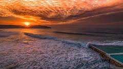 Sunrise Bondi NSW Australia (Tonitherese) Tags: ocean bondi sunrise waves sydney sunrisecloud