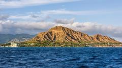 Diamond Head (Oliver Leveritt) Tags: nikond7100 afsdxnikkor1855mmf3556gvr kitlens oliverleverittphotography hawaii oahu honolulu waikiki nahoku2 nahokuii cruise boat diamondhead mountain ocean sky