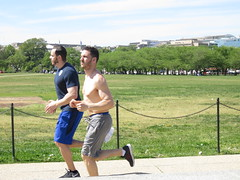 IMG_0107 (FOTOSinDC) Tags: shirtless man hot men muscle candid handsome sweaty sweat runners shorts runner joggers jogger