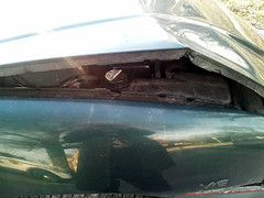 20150319 - Carolyn's car accident - smashed up Grand Am - smashed up hood - (by Carolyn) - 20150319_081915 (Rev. Xanatos Satanicos Bombasticos (ClintJCL)) Tags: reflection car closeup maryland cap vehicle hood smashed 1994 silverspring caraccident totaled carhood 2015 pontiacgrandam camerapersoncarolyn pontiacgrandamcar pontiacgrandam1994 pontiacgrandam1994car 201503 coolantcap 20150319 caraccident20150319