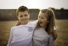 What d'you say... (Allan James Fisher) Tags: portrait beach photoshop children fun nikon 85mm siblings d750 lightroom 14g