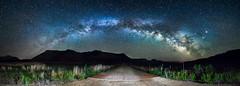 Destination Galactic Core (Paul Gana) Tags: road night lens colorado panoramic astrophotography nightsky milkyway roanplateau rokinon canon5dmkii