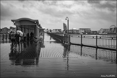 End of the Pier (zolaczakl ( 2 million views, thanks everyone)) Tags: uk england southwest monochrome rain reflections mono pier may westonsupermare 2016 westonpier blackandwhitebristol nikond7100 photographybyjeremyfennell sigma1835mmf18dchsmlens blackandwhiteweston