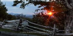 Lisa Wilmoth (lisawilmothphotography) Tags: sunset fence nc boone blueridgeparkway