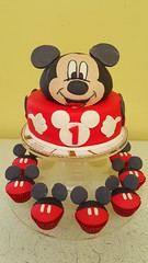 mickey mouse cake (Divine Cakes Iloilo) Tags: birthday city cake mouse cupcakes dc cafe mickey divine iloilo roxas fondant bakeshop