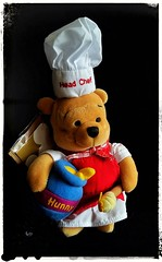 Mystery contestant on the new season of Celebrity Masterchef (Snappergus) Tags: celebrity mystery toy disney pooh cuddly contestant masterchef headchef