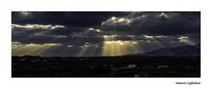 0E1A0082b Aegean Lights (foxxyg2) Tags: blue light sunset sun gold greece rays greekislands cyclades naxos lightrays islandhopping islandlife