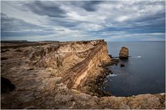 West Coast Cliffs (LRP1954) Tags: ocean sea water clouds kiana sandstone seascapes au australia cliffs southaustralia lowclouds portlincoln sonyslta99v lightroomcc