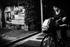 Eh Oh la politique ! (www.danbouteiller.com) Tags: japan japon japanese japonais japonaise japonia tokyo nakano city ville urban photoderue photo de rue street streetscene streetlife streets streetshot canon canon5d eos 5dmk2 5d 50mm 50mm14 5d2 monochrome bike monochromatic velo blackandwhite blackwhite black white noir blanc noiretblanc nb bw affiches flyers