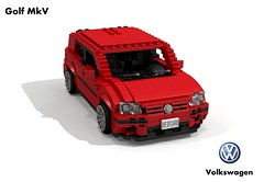 VW Golf Mk V Trendline 5-Door Hatch (lego911) Tags: vw volkswagen golf mkv mk5 trendline hatch 5door 5dr hatchback auto car moc model miniland lego lego911 ldd render cad povray 2003 a5 1k pq35 german germany foitsop