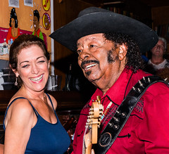 Legendary Guitar Shorty #2 (MarcCooper_1950) Tags: portrait musician music hat smiling bar happy nikon guitar profile livemusic blues indoor moustache guitarist lightroom sexywoman guitarshorty d810 marccooper socalblues mauisugarmillsaloon cadillaczackshow