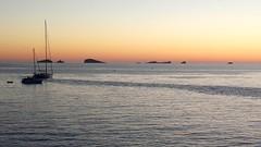 Sunset... in Ibiza. (Julyyaa) Tags: sunset summer atardecer mar barco ibiza verano puestadesol isla mediterrneo baleares velero illesbalears islasbaleares islablanca