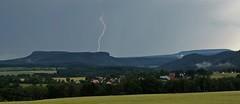 Heiterer Blick (#explore) (Norbert Kaiser) Tags: blitz gewitter sächsischeschweiz elbsandsteingebirge ostrau hoherschneeberg gewitterhimmel mittelndorf zschirnsteine