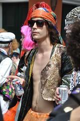(Omunene) Tags: carnival shirtless sunglasses costume cigarette neworleans frenchquarter carnaval vest bellybutton bywater fattuesday marigny happypeople krewe faubourg faubourgmarigny outie treasuretrail walkingparade noopencontainerlaws mardigras2012 lasociétédesainteanne sociétédesainteanne