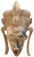 10Y_0925 (Kachile) Tags: art mask african tribal côtedivoire primitive ivorycoast gouro baoulé nativebaoulémasksaremainlyanthropomorphicmeaningtheydepicthumanfacestypicallytheyarenarrowandfemininelookingincomparisontomasksofotherethnicitiesoftenfeaturenohairatallbaouléfacemasksaremostlyadornedwithvarioustrad