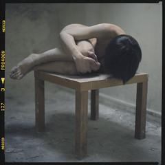 Untitled (brutart) Tags: portrait film strange nice solitude femme bordeaux 8 mm bizarre franais francais argentique nue urbex nud contemporain gironde strang brutart bizare conceptuel analogique dcal kiev88902