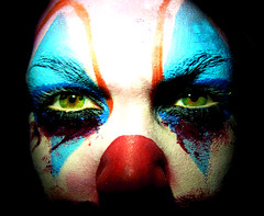 Are you afraid of the dark? (Carlotta Lucia) Tags: blue red green face scary blood paint circus clown horror carly afraid areyouafraidofthedark