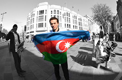remember khojaly - 20 years ago today (fat-freddies-cat ☺ ☻4½ million views☻☺) Tags: flag cardiff azerbaijan queenstreet khojaly streetclour