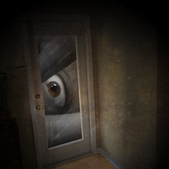 let me in (Photomaginarium) Tags: art texture photomanipulation photoshop canon creativity cs2 creative gimp powershot squareformat imagination outsiders hplovecraft textured selectivecolor verybig odc sleepinggiant freespirit letmein memoriesbook ourdailychallenge odc3 mindfeather thegeekbehindthecurtain geekbehindthecurtain photomaginarium digitalagerecessionerafolkart