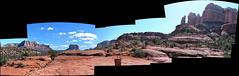 Cathedral Rock, Sedona (ellenm1) Tags: arizona autostitch landscape highresolution scenic sedona panoramas cathedralrock