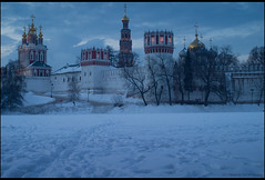 Moscow. Novodevichy Convent. (Yuri Degtyarev) Tags: world winter brussels snow heritage 120 site moscow sony tripod grand unesco prix soviet m42 yuri 1958 flektogon alpha convent novodevichy slik  cokin nex  p120  3728  pseries degtyarev mir1 121s gnd8 p121s  1 psystem 42 nexc3 gnd33