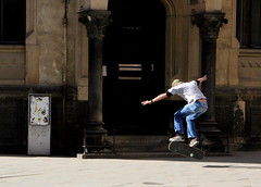 Roberto practising his stunts (Debarshi Ray) Tags: boy man guy spring czech brno skate skateboard canoneos60d canonefs18135mmf3556is ranova