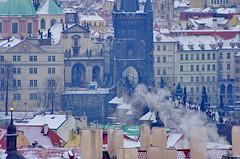 Prague, les toits depuis le chteau 16 (paspog) Tags: castle prague roofs charlesbridge chteau rpubliquetchque toits karlvmost pontcharles