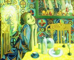 Reflections 2 (Prancarita) Tags: selfportrait reflection glass mirrow ainting