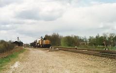 6400 heeft een zeldzaam vrachtje (Dick Boss) Tags: station star museumlijn spoor zeldzaam spoorbaan goederenvervoer hethogenoorden