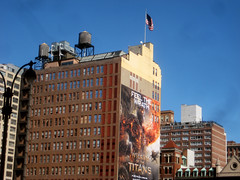 wwWrath 9826 (Brechtbug) Tags: from above street new york city nyc film monster wall painting movie poster fire 3d paint ray painted feel like clash billboard half finished unfinished 33rd avenue 9th creature mythology remake wrath titans 2012 myths featuring kronos sequel the harryhausen sized kracken 03142012
