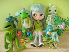 greenish (merwinglittle dear) Tags: bear cactus pet black green bird st shop wonder toy doll day lego turtle tail lagoon frog collection fairy pokemon blythe patricks mermaid care muppet creature kermit littlest toki doki tokissi