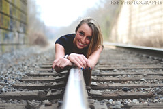 3_15_12 val7 (Ryan S Burkett | RSB Photography) Tags: vw train volkswagen 50mm 1 nikon cowboy boots traintracks jetta 50 valerie mk reflector sunflare mk1 d300s
