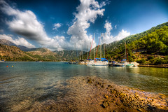 Kzkumu,Marmaris (Nejdet Duzen) Tags: trip travel sea vacation cloud mountain holiday turkey yacht trkiye deniz yat marmaris bulut da tatil turkei seyahat mula kzkumu saariysqualitypictures mygearandme